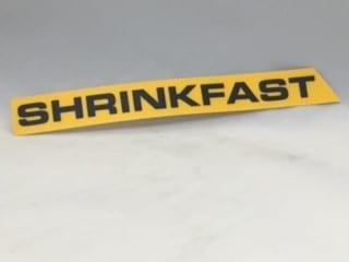 Shrinkfast 998 Right Hand Label
