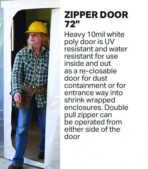 """Zipper Inspection Door - 30"""" x 72"""" Hatch Door WHITE"""